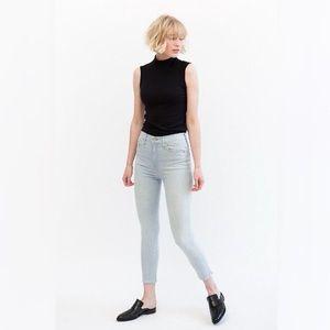 Mother Denim Swooner Crop High Rise Skinny Jeans